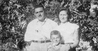 Family picture, Umberto, Verdiana and Fernando Turicchia, second and third generation